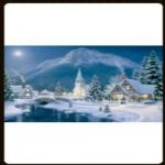 LED CANVAS PICTURE SNOW SCENE DF15863